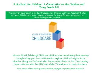 A Scotland for Children: A Consultation on the Children and Young People Bill