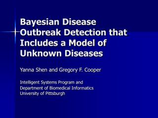 Bayesian Disease Outbreak Detection that Includes a Model of Unknown Diseases