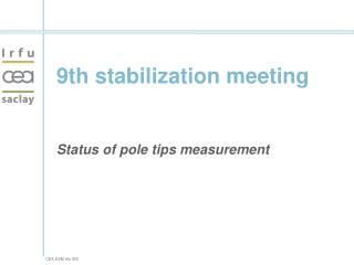 9th stabilization meeting