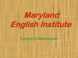 Maryland English Institute