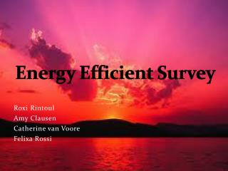 Energy Efficient Survey