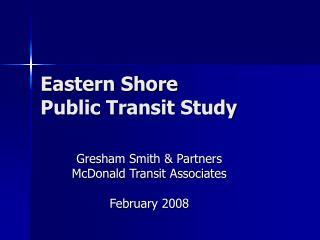 Eastern Shore Public Transit Study