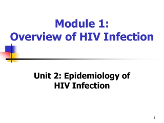 Global and Regional Overview of the HIV