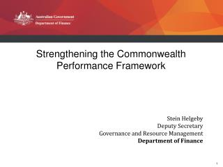 Strengthening the Commonwealth Performance Framework