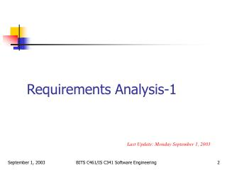 Requirements Analysis-1