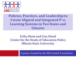A project funded by the McCormick Foundation