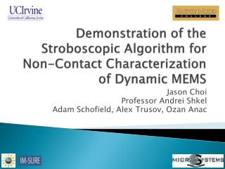 Demonstration of the Stroboscopic Algorithm for Non-Contact Characterization of Dynamic MEMS