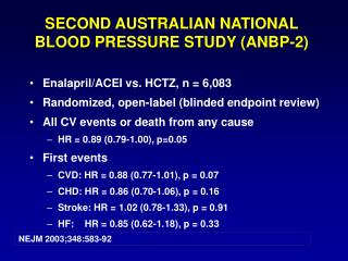 SECOND AUSTRALIAN NATIONAL BLOOD PRESSURE STUDY (ANBP-2)