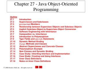 Chapter 27 - Java Object-Oriented Programming