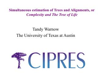Simultaneous estimation of Trees and Alignments, or Complexity and The Tree of Life