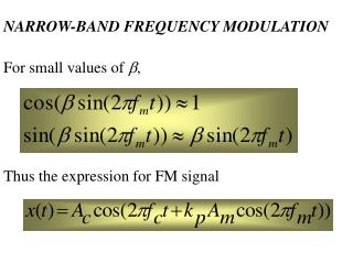 NARROW-BAND FREQUENCY MODULATION