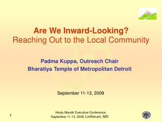 Are We Inward-Looking?  Reaching Out to the Local Community