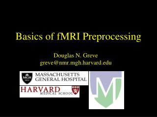 Basics of fMRI Preprocessing