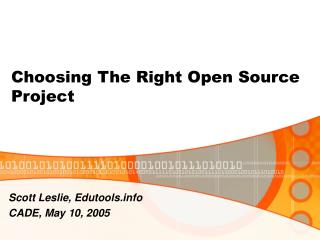 Choosing The Right Open Source Project