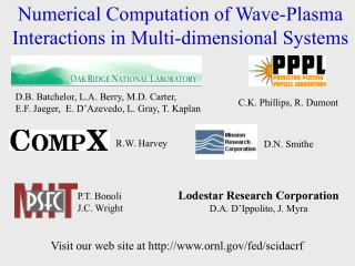 Numerical Computation of Wave-Plasma Interactions in Multi-dimensional Systems