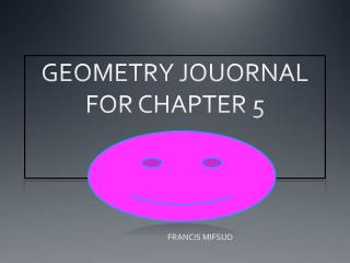 GEOMETRY JOUORNAL FOR CHAPTER 5