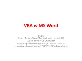 VBA w MS Word
