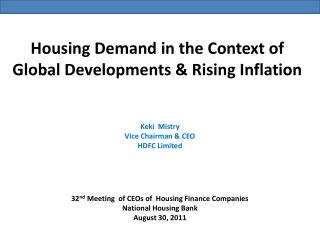 Housing  Demand  in the  Context  of  Global Developments & Rising Inflation