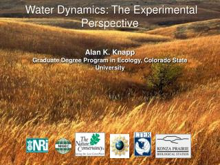 Water Dynamics: The Experimental Perspective  Alan K. Knapp