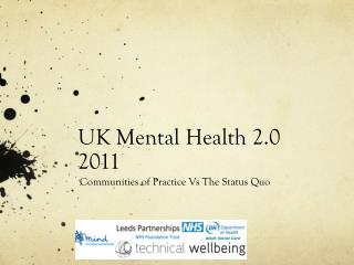 UK Mental Health 2.0 2011
