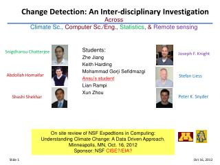 Change Detection: An Inter-disciplinary Investigation