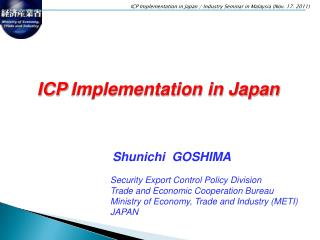 ICP Implementation in Japan