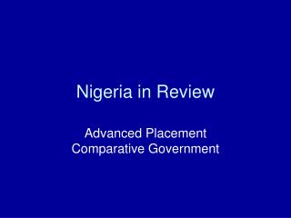 Nigeria in Review