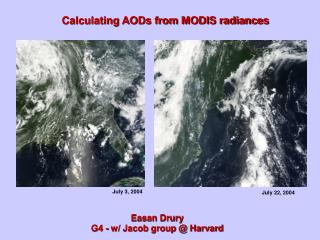 Calculating AODs from MODIS radiances