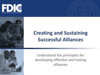Creating and Sustaining Successful Alliances