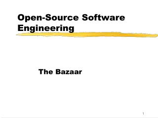 Open-Source Software Engineering