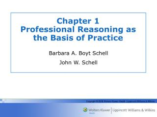 Chapter 1  Professional Reasoning as the Basis of Practice