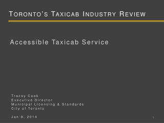Toronto's Taxicab Industry Review