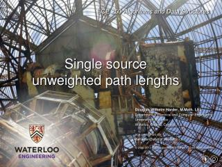 Single source u nweighted  path lengths