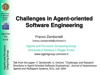 Challenges in Agent-oriented Software Engineering