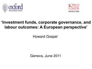 'Investment funds, corporate governance, and labour outcomes: A European perspective'