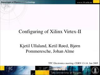 Configuring of Xilinx Virtex-II