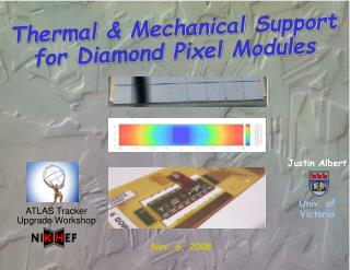 Thermal & Mechanical Support for Diamond Pixel Modules