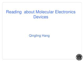 Reading  about Molecular Electronics Devices