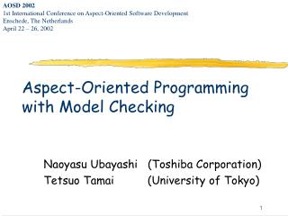 Aspect-Oriented Programming with Model Checking
