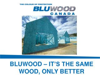 BLUWOOD – IT 'S THE SAME WOOD, ONLY BETTER