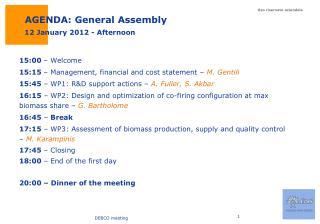 AGENDA: General Assembly