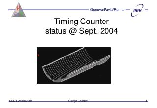 Timing Counter status @ Sept. 2004