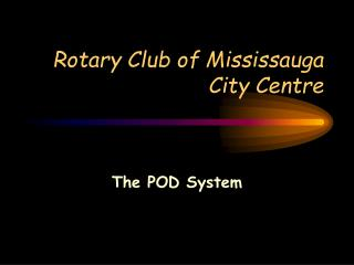 Rotary Club of Mississauga City Centre
