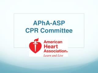 APhA-ASP CPR Committee