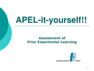 APEL-it-yourself!!