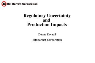 Regulatory Uncertainty and  Production Impacts