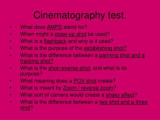 Cinematography test.