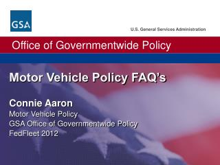 Motor  Vehicle Policy FAQ's