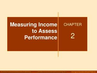 Measuring Income to Assess Performance