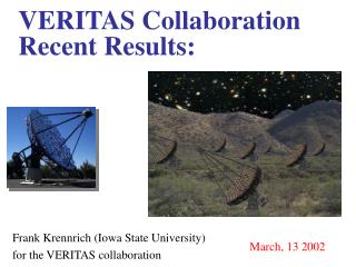 VERITAS Collaboration Recent Results: